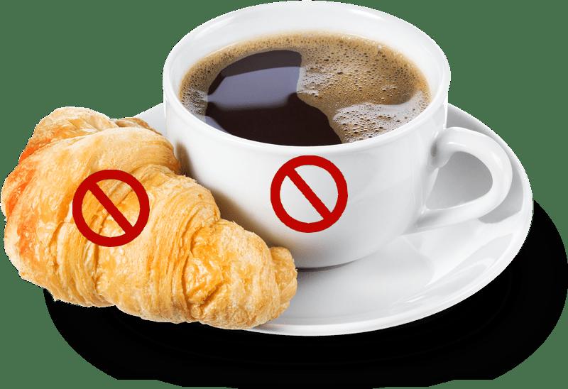 Pas de croissants ni flyer